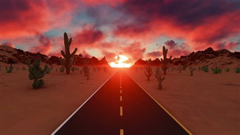 Beautiful Sunset in American Desert Stock Footage Video ...