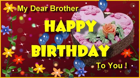 Happy Birthday Greeting For Brother ! Birthday Ecard For ...