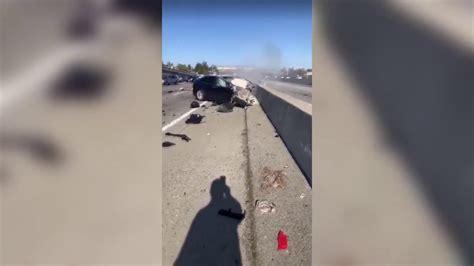 Tesla crashes, catches fire - YouTube