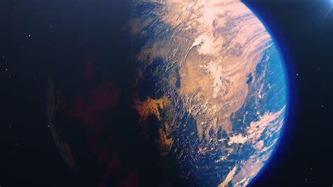 Beautiful Sunrise World Skyline. Planet Stock Footage ...