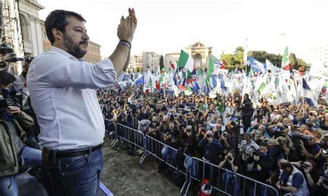 'Sardines against Salvini': Italians pack squares in protest against far right | Italy | The ...
