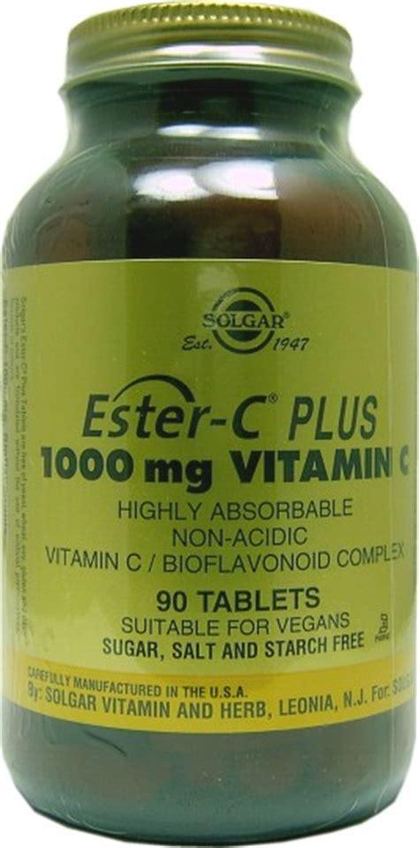 Solgar Ester C Plus 1000mg Vitamin C Tablets 90 - Health ...