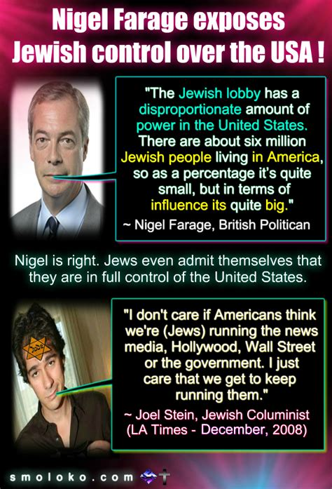 Nigel Farage finally Exposes Jewish Control over the USA ...