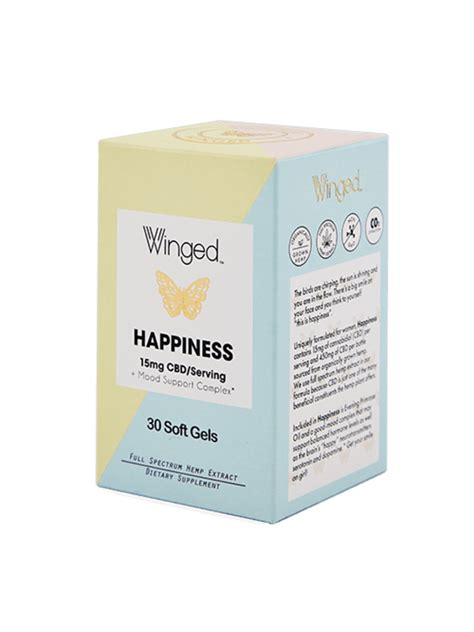 Winged CBD Happiness 15mg, 30sg - Nuts 'n Berries Healthy Market