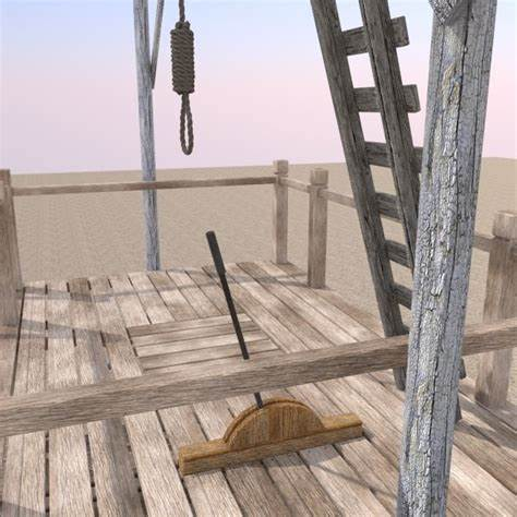 Hangman Noose and Gallows 3D Model Game ready .3ds .fbx ...