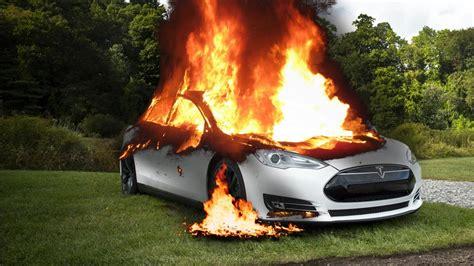Burning my Tesla Model S on purpose - YouTube
