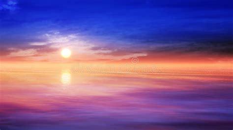 Relaxing Sunset Scenery Stock Illustration - Image: 42418171
