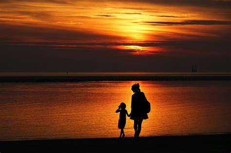 Free Images : mother, daughter, together, walking, family ...