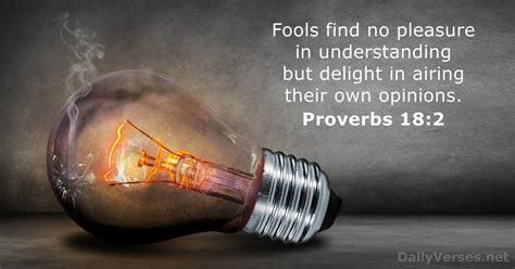 Proverbs 18:2 - Bible verse of the day - DailyVerses.net