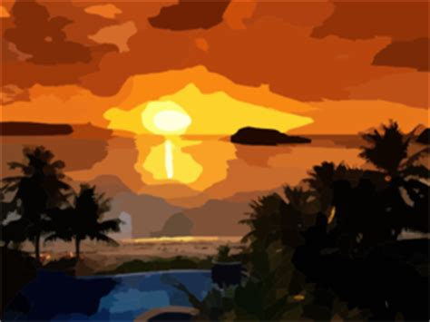 Beautiful Sunrise Clip Art at Clker.com - vector clip art ...