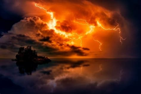 Free photo: Sunset, Dusk, Lightning, Storm - Free Image on ...