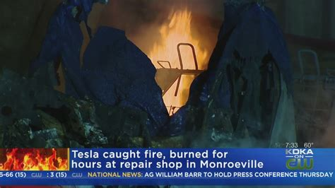 Tesla Vehicle Fire Under Investigation - YouTube