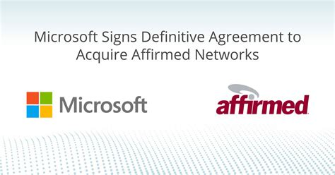 Microsoft has signed a definitive agreement to acquire ...