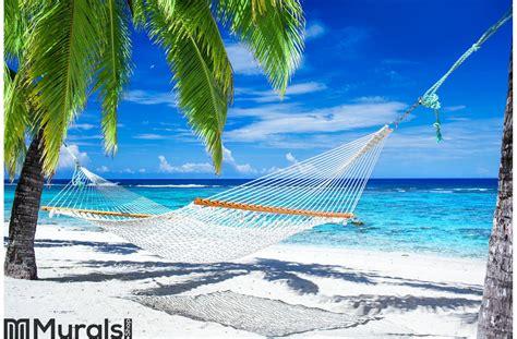 Tropical Beach Hammock Wallpaper | SUPERAPK