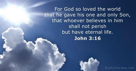 John 3:16 - KJV - Bible verse of the day - DailyVerses.net