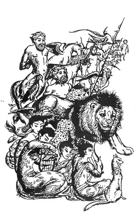 Aslan's Creatures illustration by Pauline Baynes for The ...