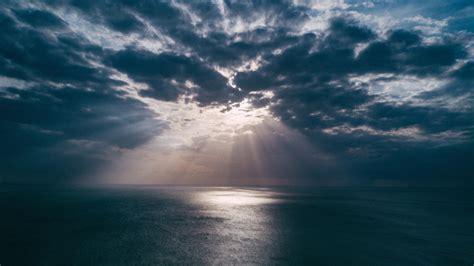 Beach Clouds Landscape Light Evening Sun Rays 4k nature ...
