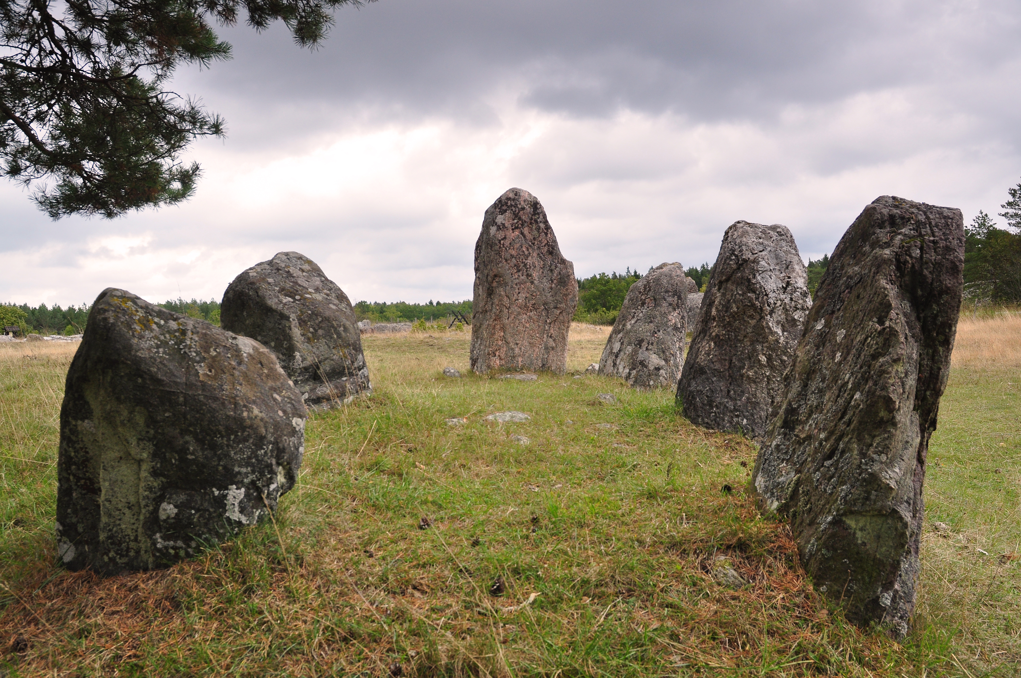 Skeppssättning Gålrum Gotland Källa: Wikimedia