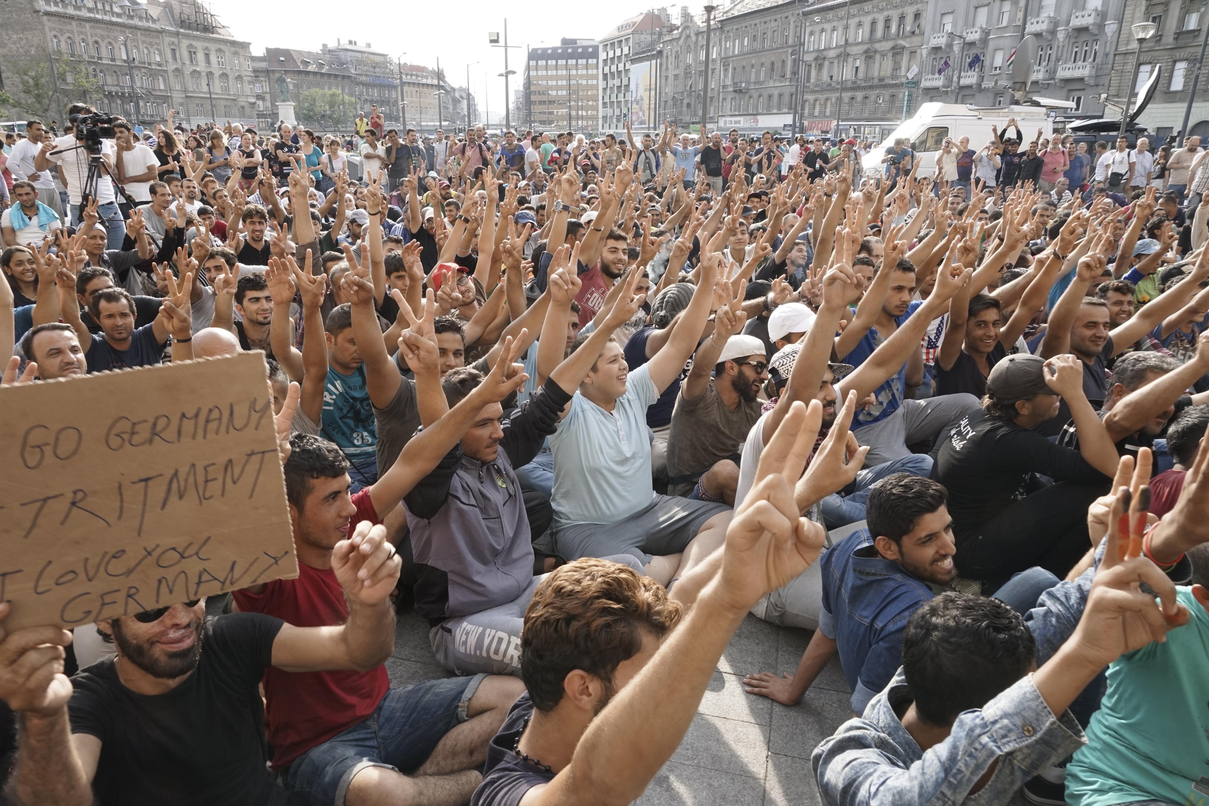 ... Refugee crisis. Budapest, Hungary, Central Europe, 3 September 2015