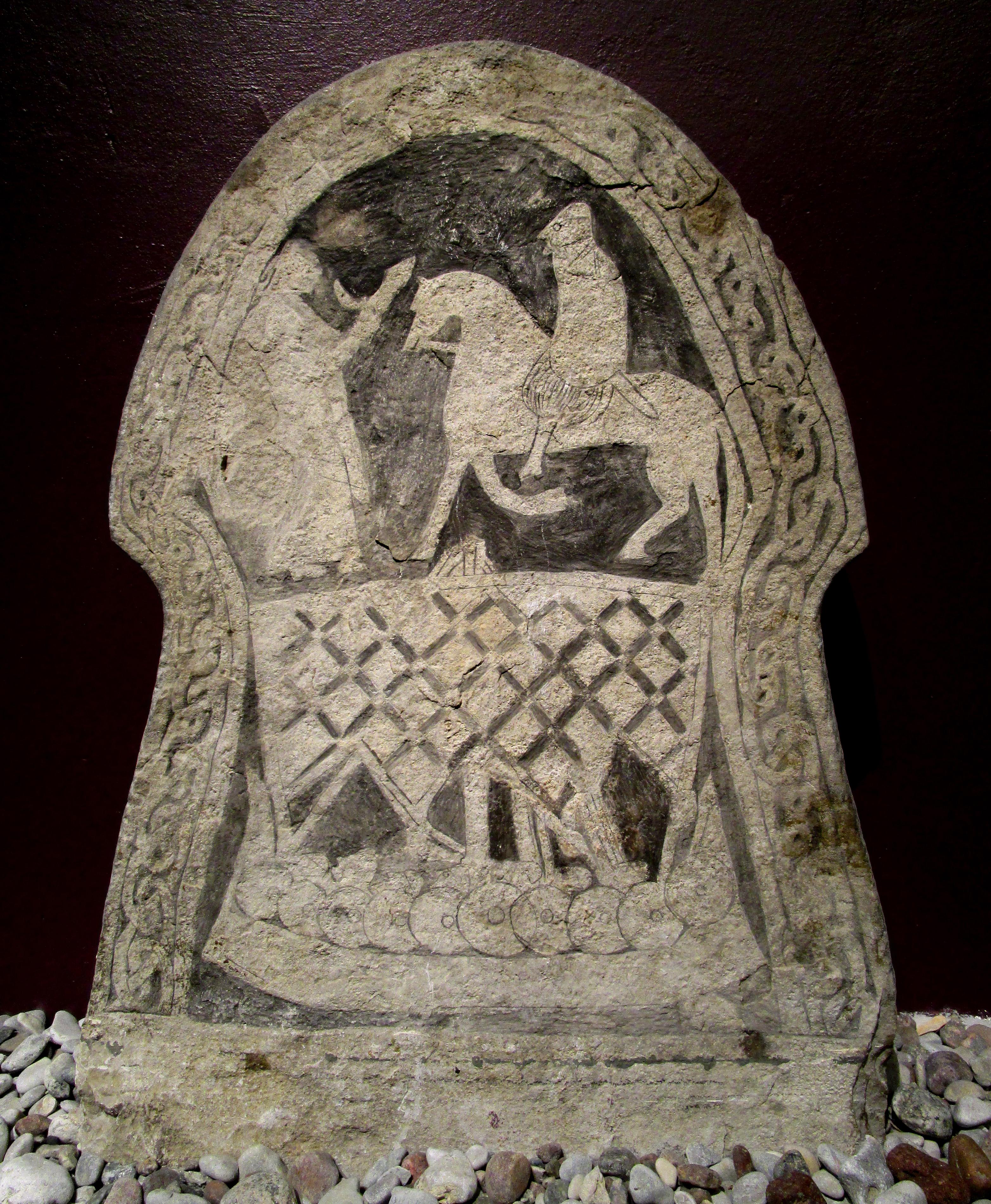 Bildsten Broa i Halla socken Gotland 700-800-tal Källa: Wikimedia