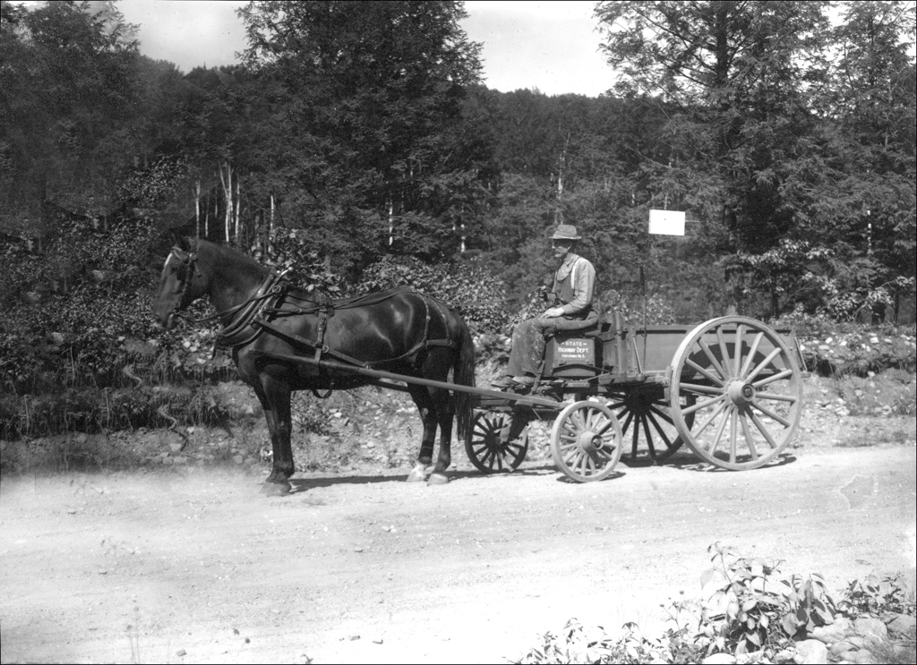 File:State Highway Dept horse and wagon -- Keene, NH, 1900 ...