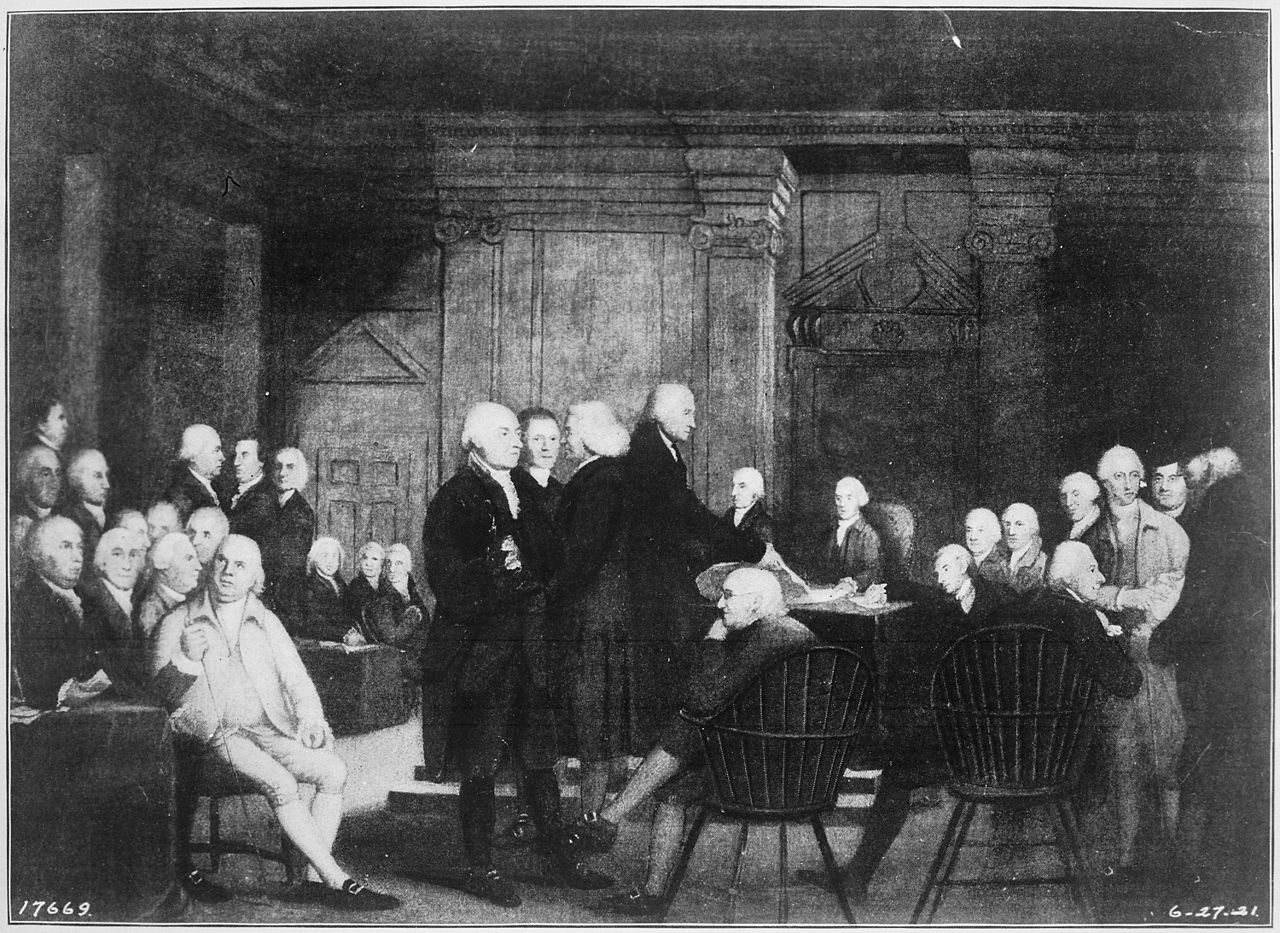 File:The Second Continental Congress voting independence ...