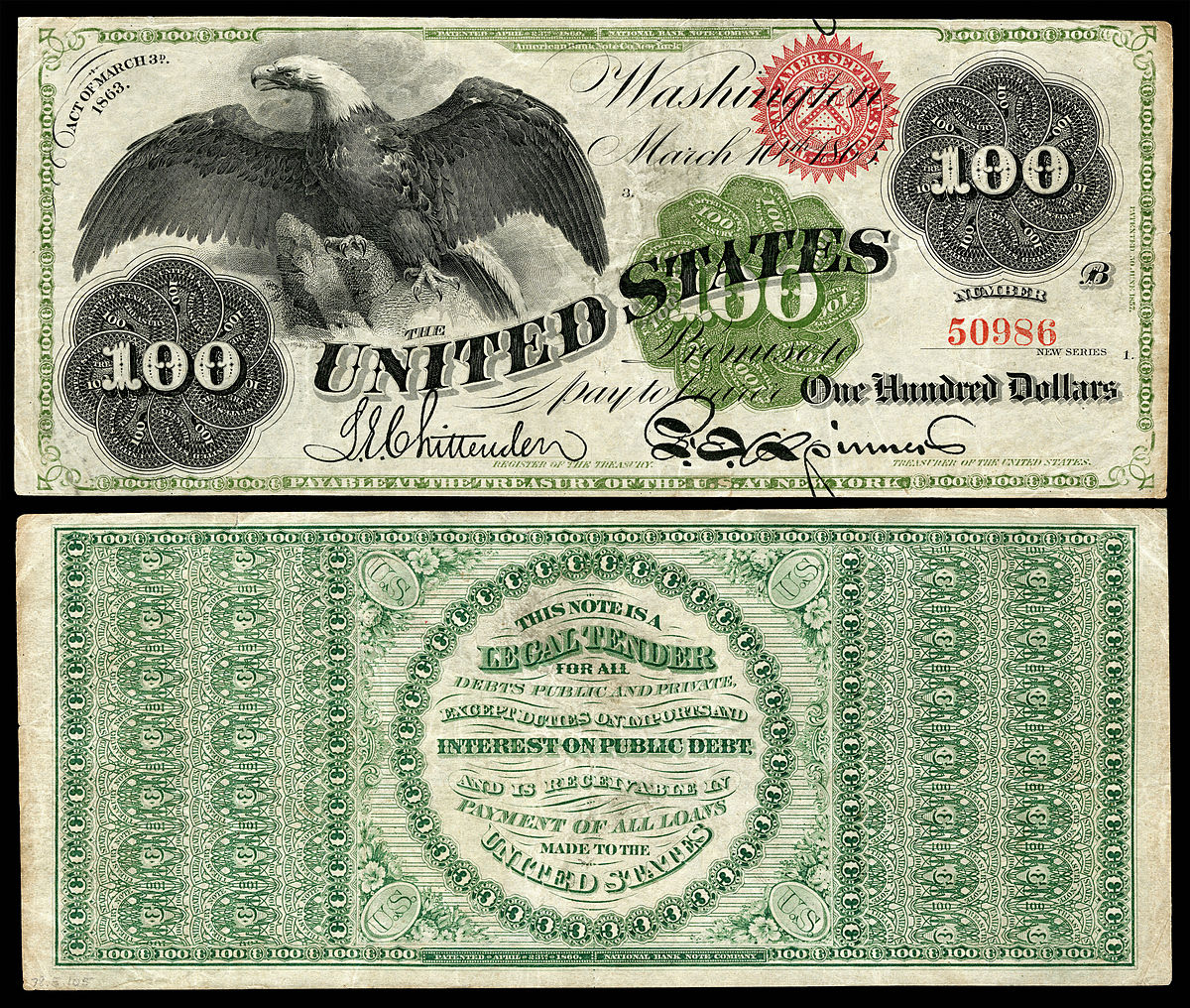 First One Hundred-Dollar Bill - History