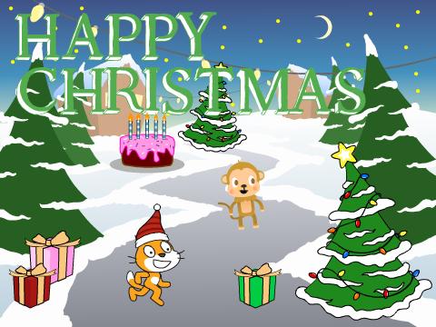 Scratch Christmas Card on Scratch