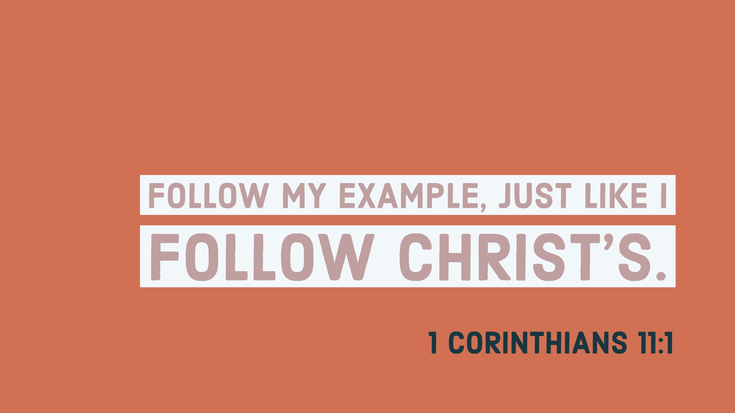 1 Corinthians 11:1 - Verse Images