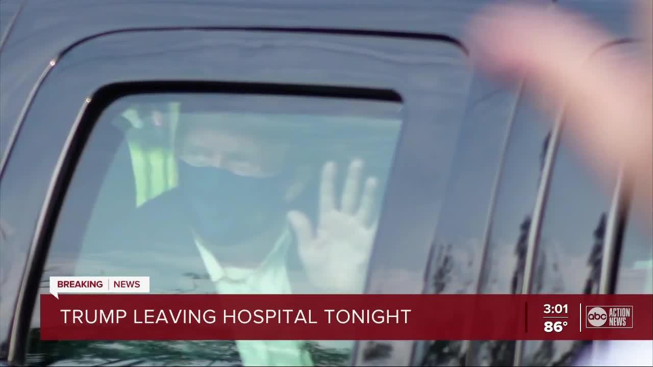 President Trump says he's leaving hospital - One News Page ...