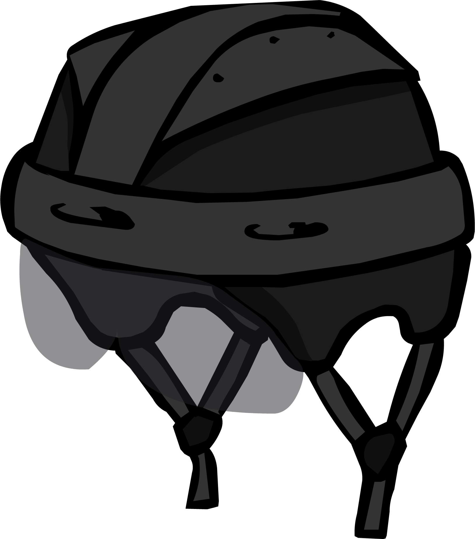 Black Hockey Helmet | Club Penguin Wiki | Fandom