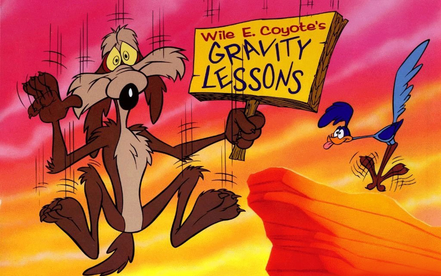 Image - Wile-E-Coyotes-Gravity-Lessons-1440x900-Wallpaper ...