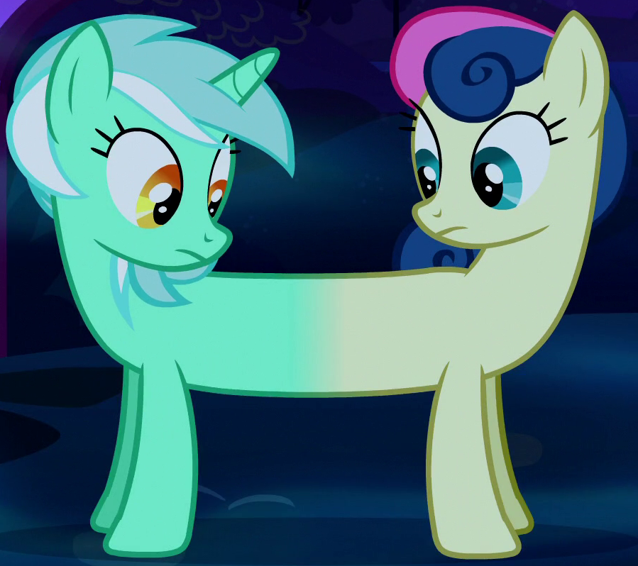 Image - Lyra and Sweetie Drops merged ID S5E13.png | My Little Pony Friendship is Magic Wiki ...