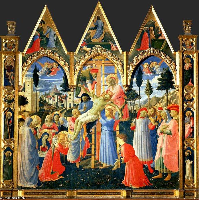 Descendimiento de la Cruz california , 1435 de Fra ...