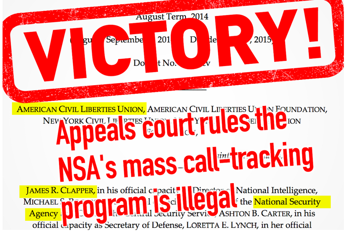 ... Against Mass Surveillance Matters | American Civil Liberties Union