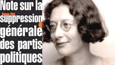Simone Weil - Note sur la suppression générale des partis ...