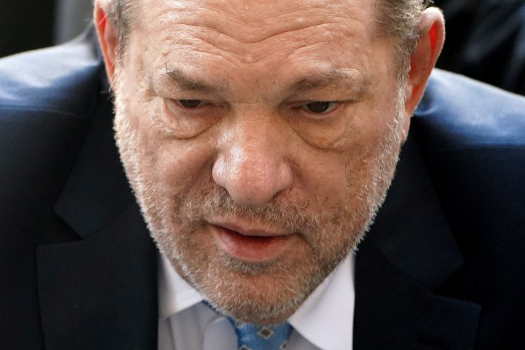 Harvey Weinstein being moved to Rikers Island Infirmary after undergoing a heart procedure, where he will await sentencing…