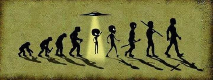 Funny Alien Evolution To Man Picture extraterrestres