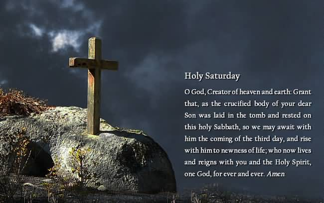 45 Beautiful Holy Saturday Wish Pictures