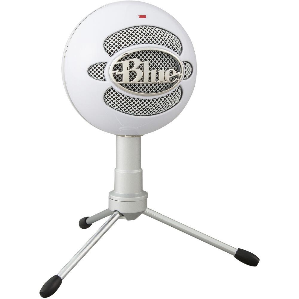 Microfone Blue Snowball Ice para podcast branco