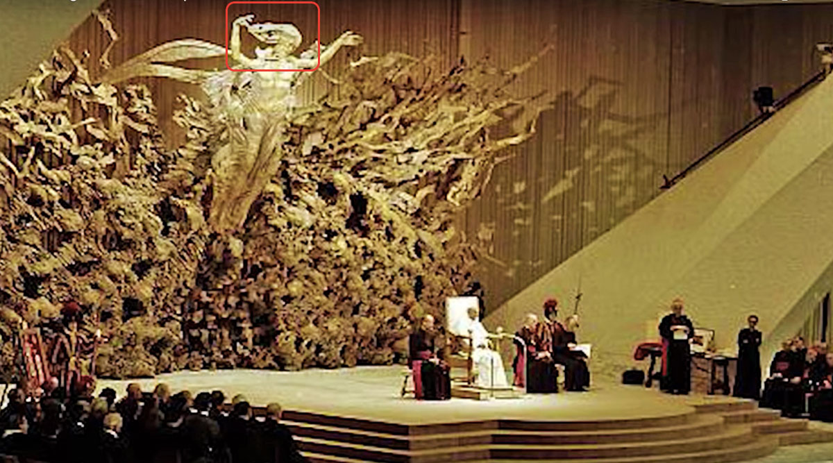 The Dark Secrets Behind the Pope's Audience Hall - It's a Giant Reptilian