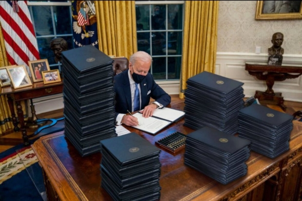Biden signed FORTY TWO executive actions in his first 10 ...