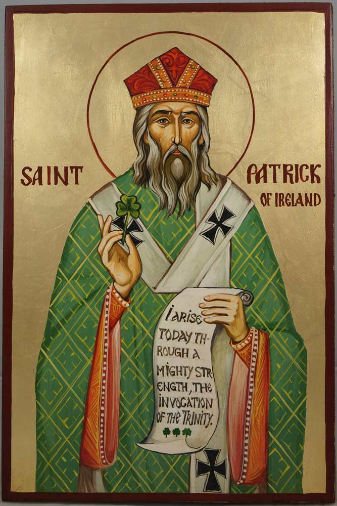 St Patrick of Ireland Hand-Painted Icon - BlessedMart