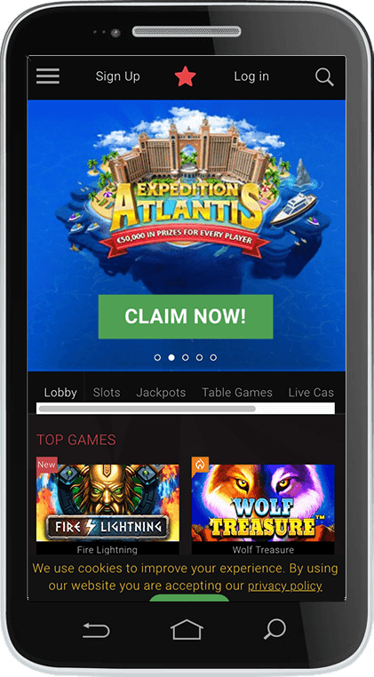 You can play slots at BitStars Casino even on your mobile phone