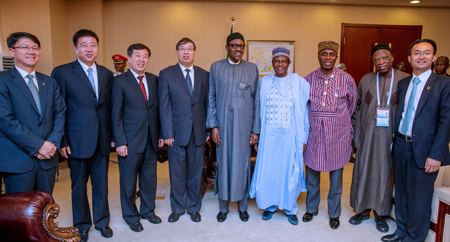 PHOTOS: Buhari Meets China Railway Construction ...