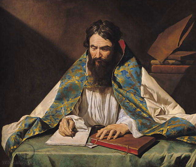 St. Ambrose 339-97, by Matthias Stomer, c. 1633-39 | The Core Curriculum