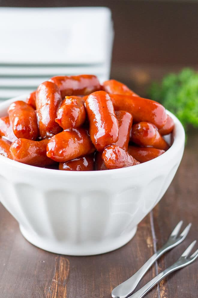 2-Ingredient Barbecue Little Smokies | Culinary Hill
