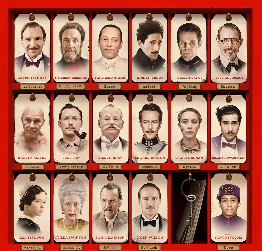 The Grand Budapest Hotel cast overview poster   Cultjer
