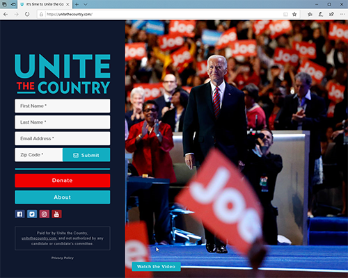 Other 2020 Campaign Websites from Jan. 2019-Mar. 2020