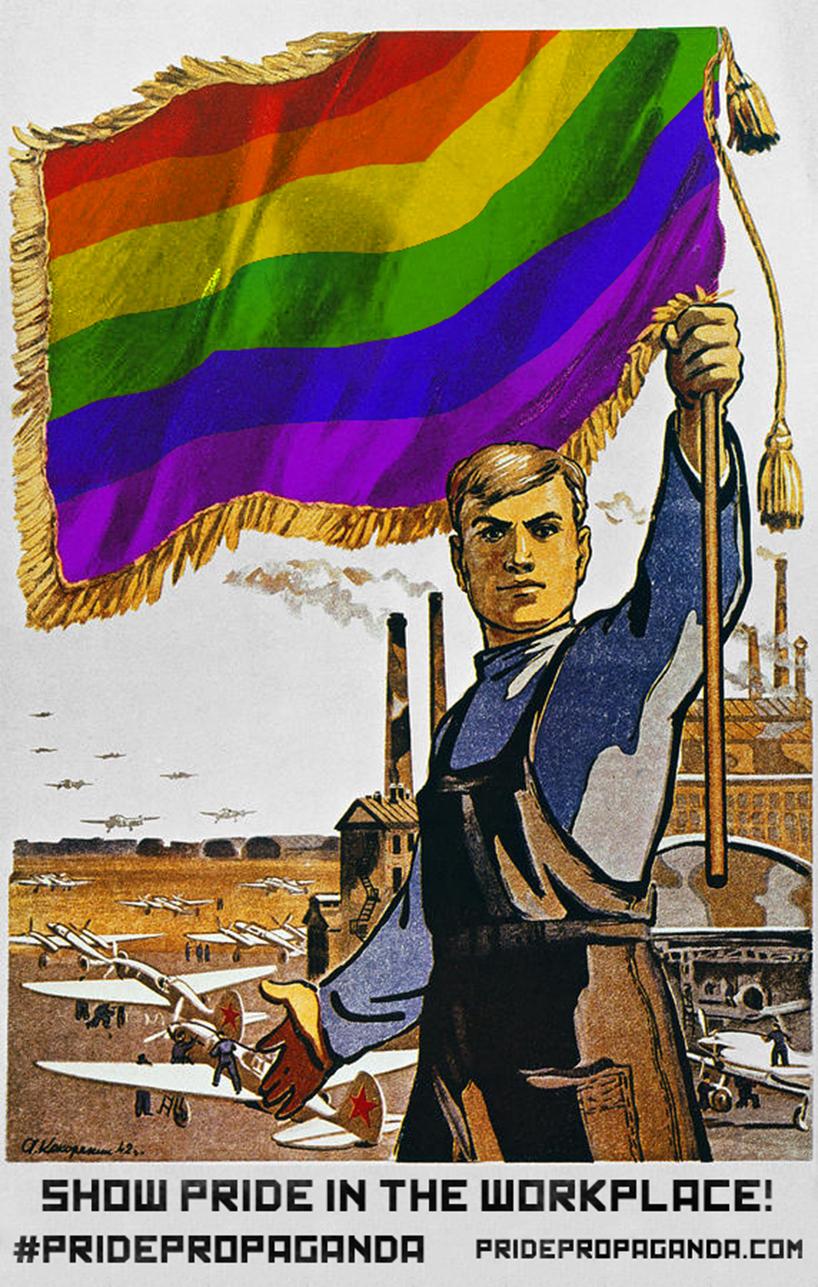 soviet propaganda turned into pride propaganda posters